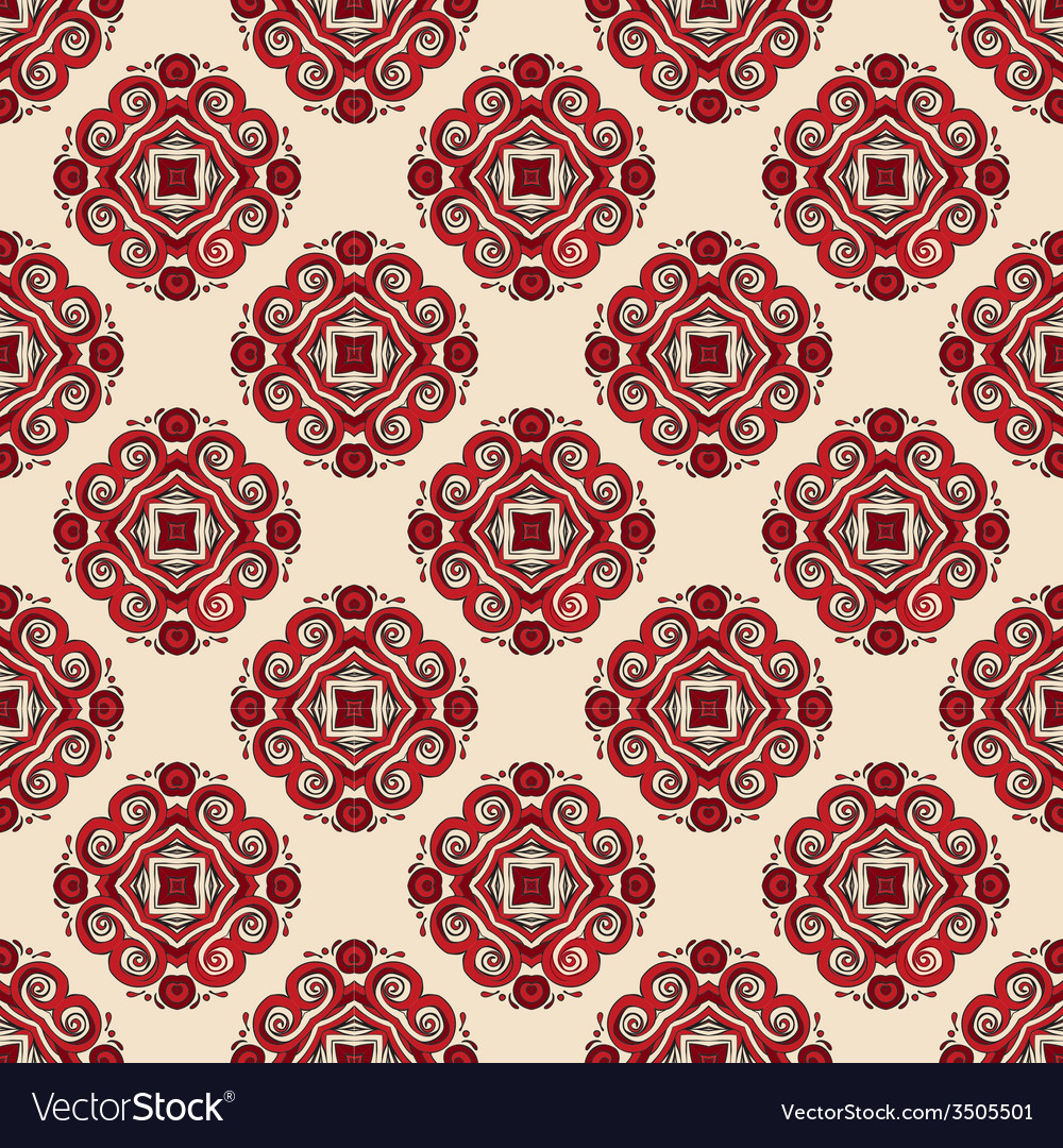Seamless pattern tiled geometric abstract vector | Price: 1 Credit (USD $1)