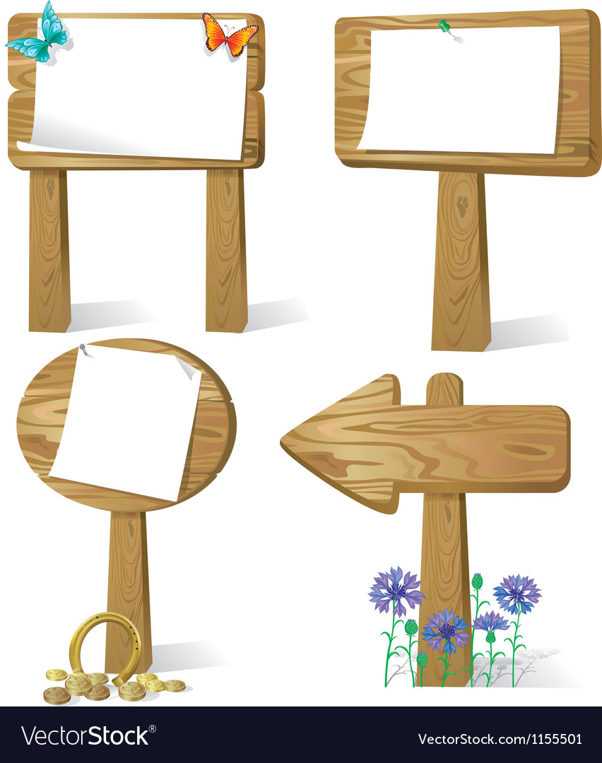 Sign board wood vector | Price: 1 Credit (USD $1)