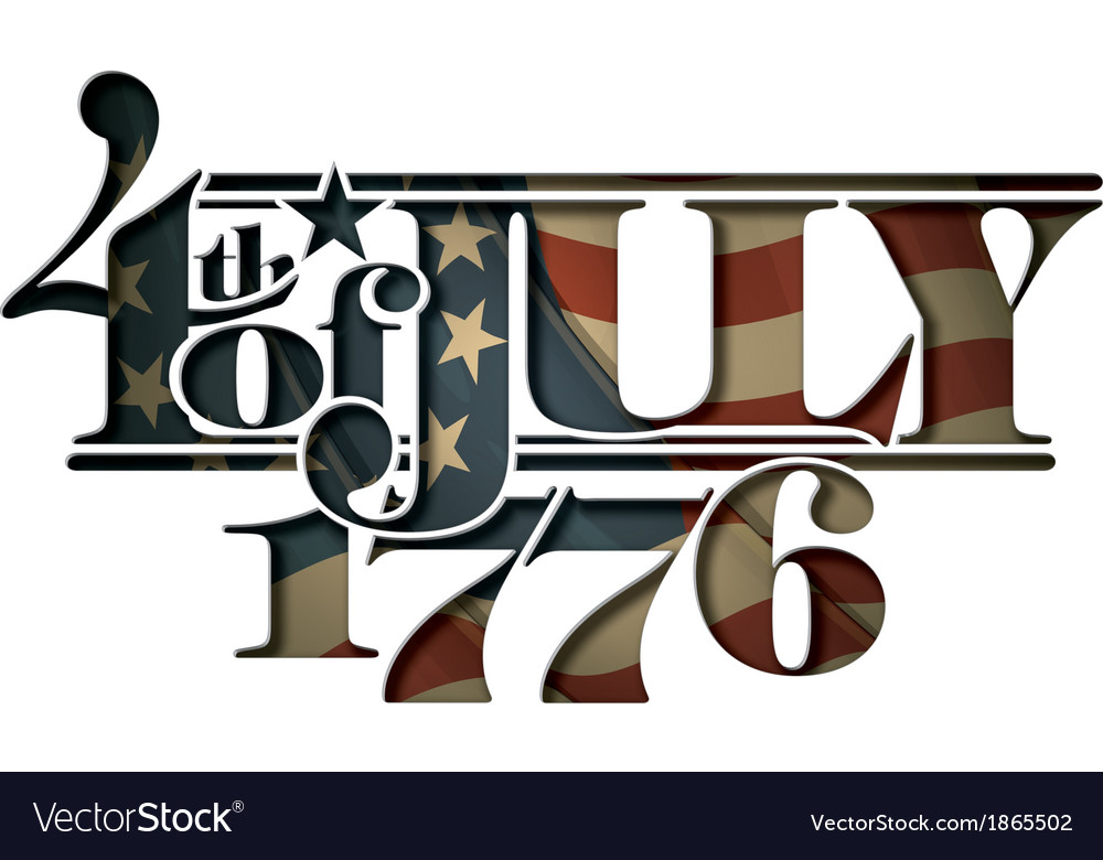4th of july 1776 cut out vector | Price: 1 Credit (USD $1)