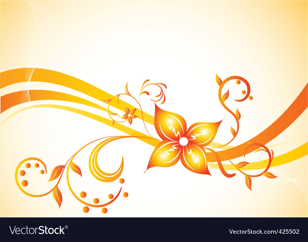background with flower vector | Price: 1 Credit (USD $1)