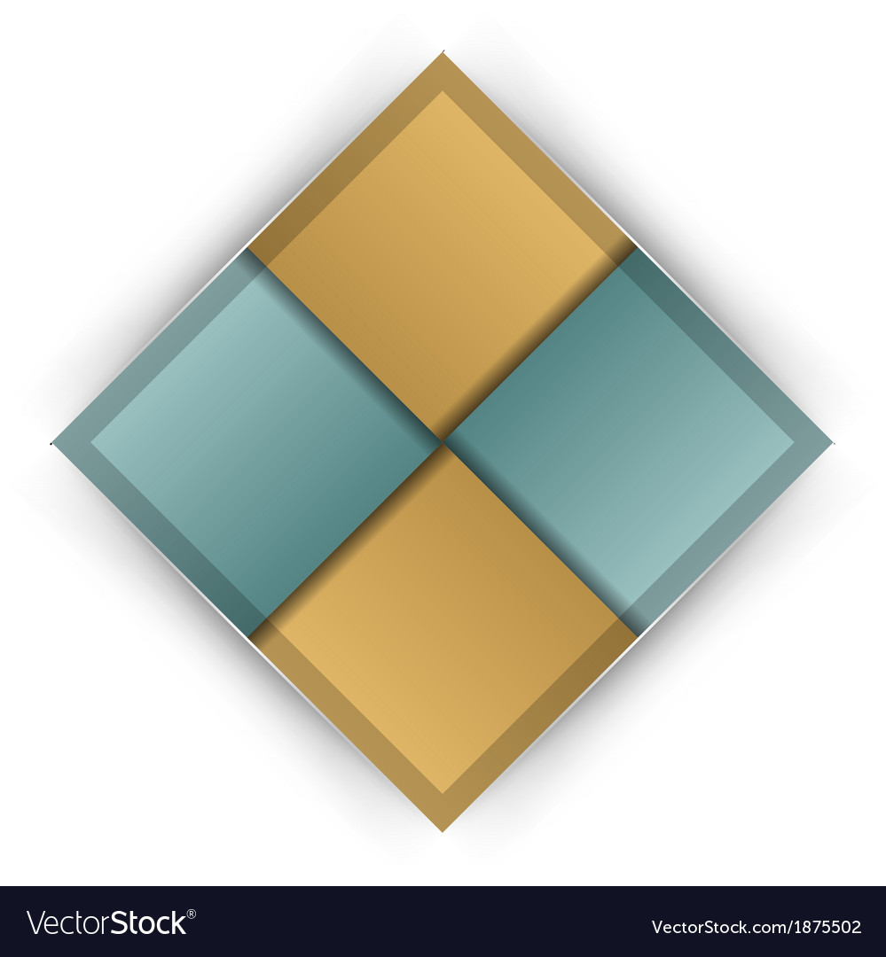 Business four squares vector | Price: 1 Credit (USD $1)