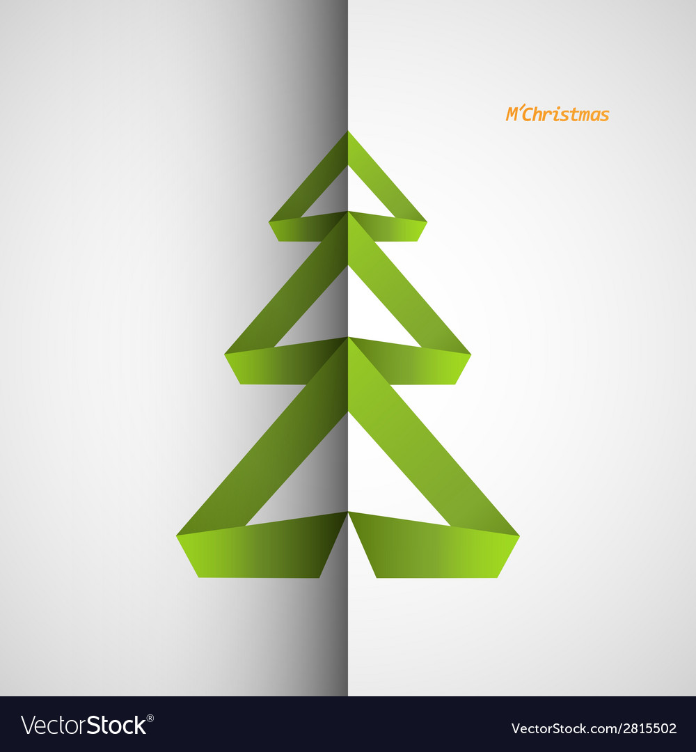 Christmas tree icon on a simple background vector | Price: 1 Credit (USD $1)