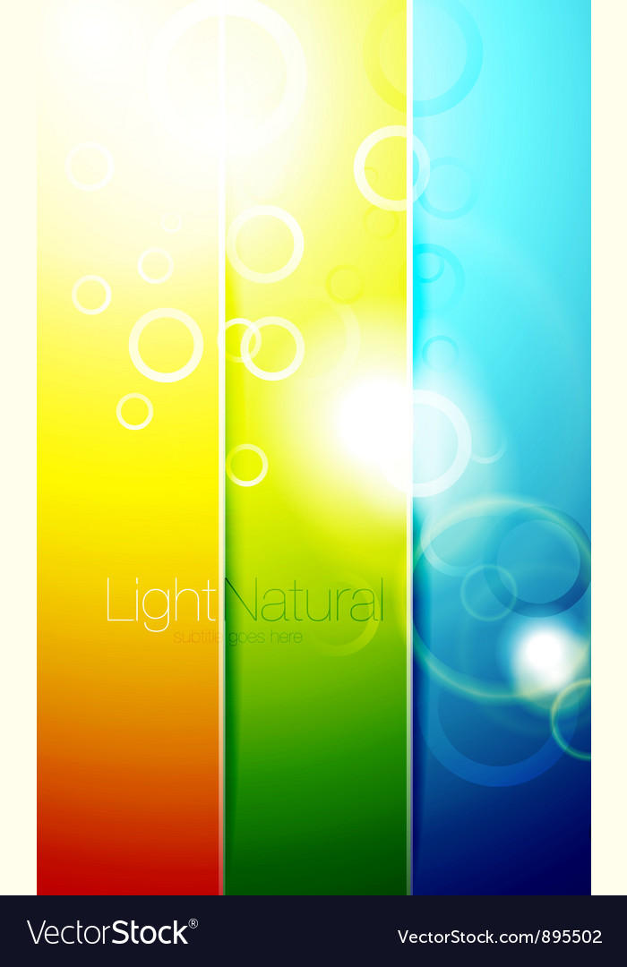 Colorful shiny banner backgrounds vector | Price: 1 Credit (USD $1)