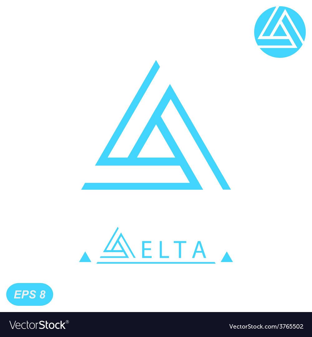 Delta letter logo template vector | Price: 1 Credit (USD $1)