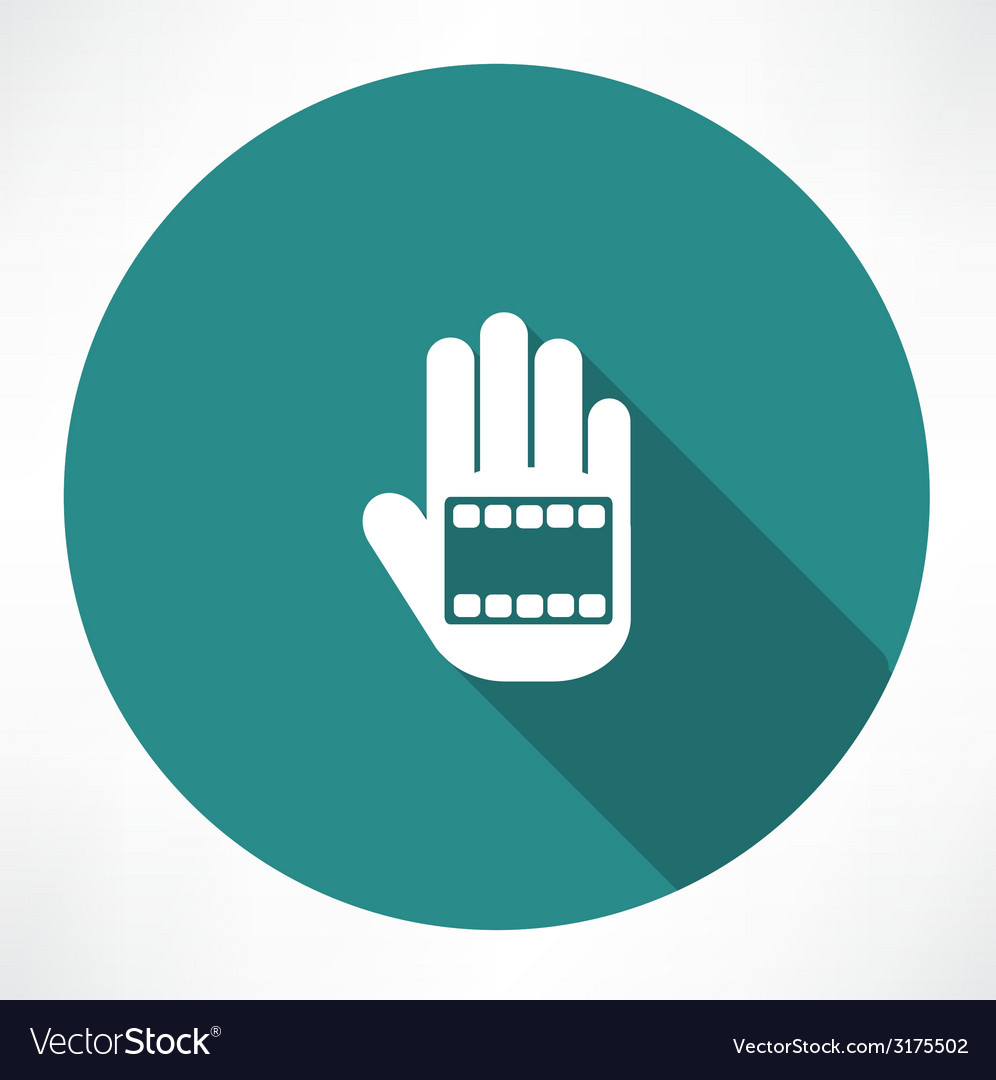 Film in hand icon vector | Price: 1 Credit (USD $1)