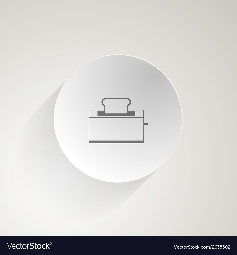 Flat icon for toaster vector | Price: 1 Credit (USD $1)