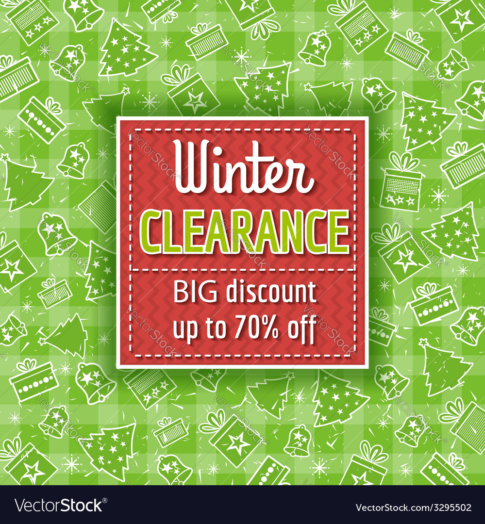 Green christmas background and sale label vector   Price: 1 Credit (USD $1)