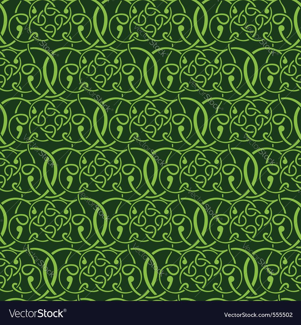 Green seamless wallpaper vector | Price: 1 Credit (USD $1)