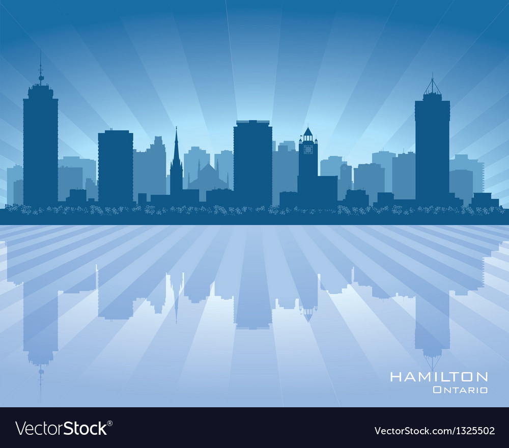 Hamilton canada skyline city silhouette vector | Price: 1 Credit (USD $1)