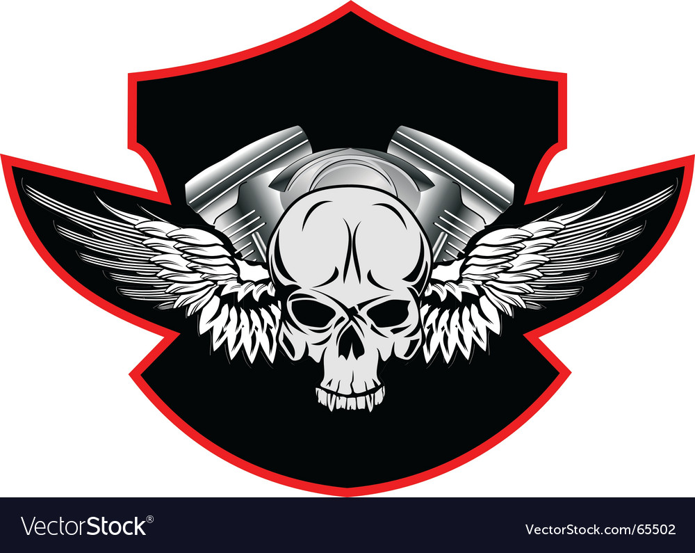 Motor skull vector | Price: 1 Credit (USD $1)