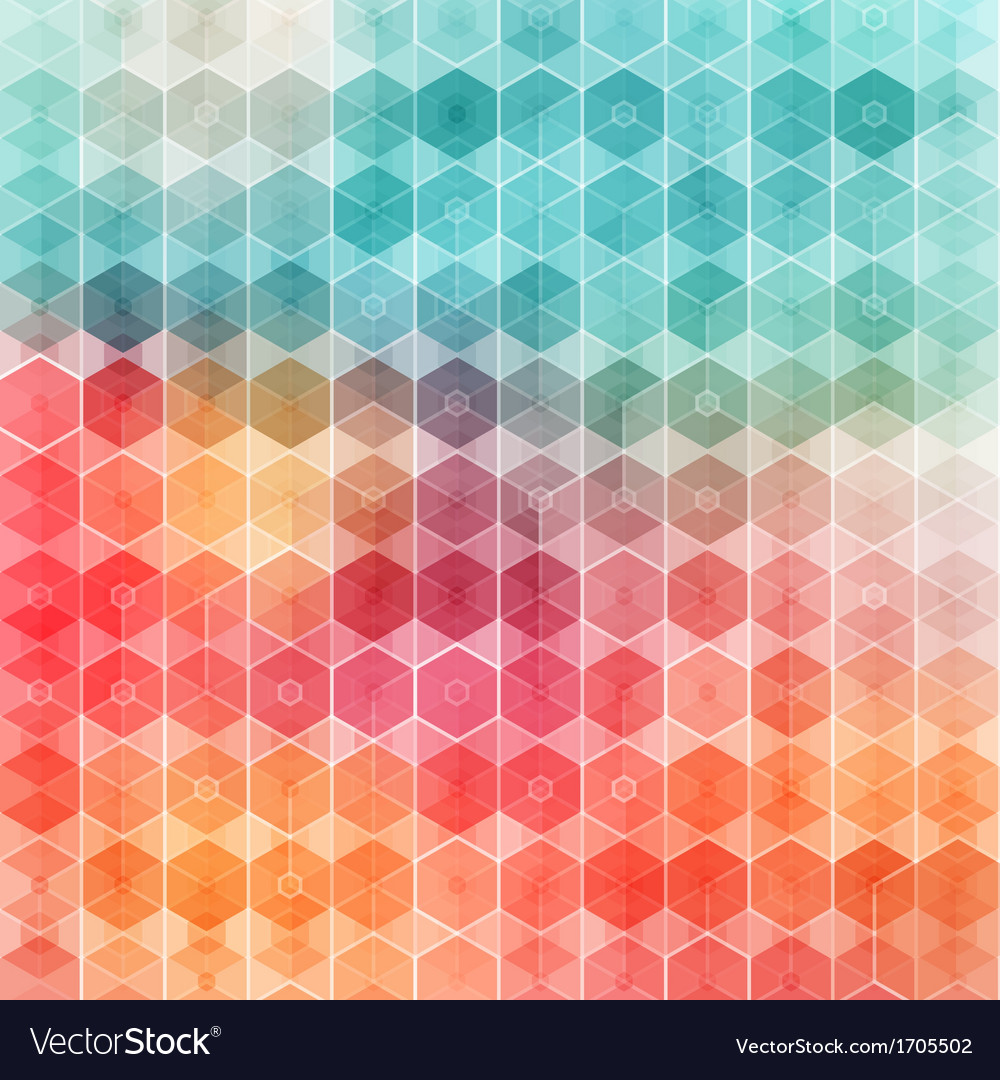 Nice and colored geometric pattern vector | Price: 1 Credit (USD $1)