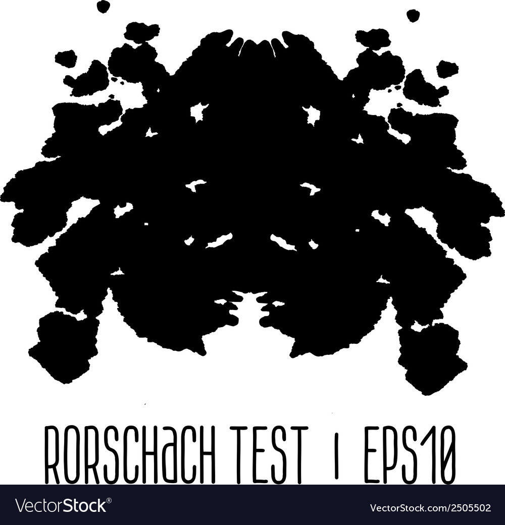 Rorschach inkblot test vector | Price: 1 Credit (USD $1)
