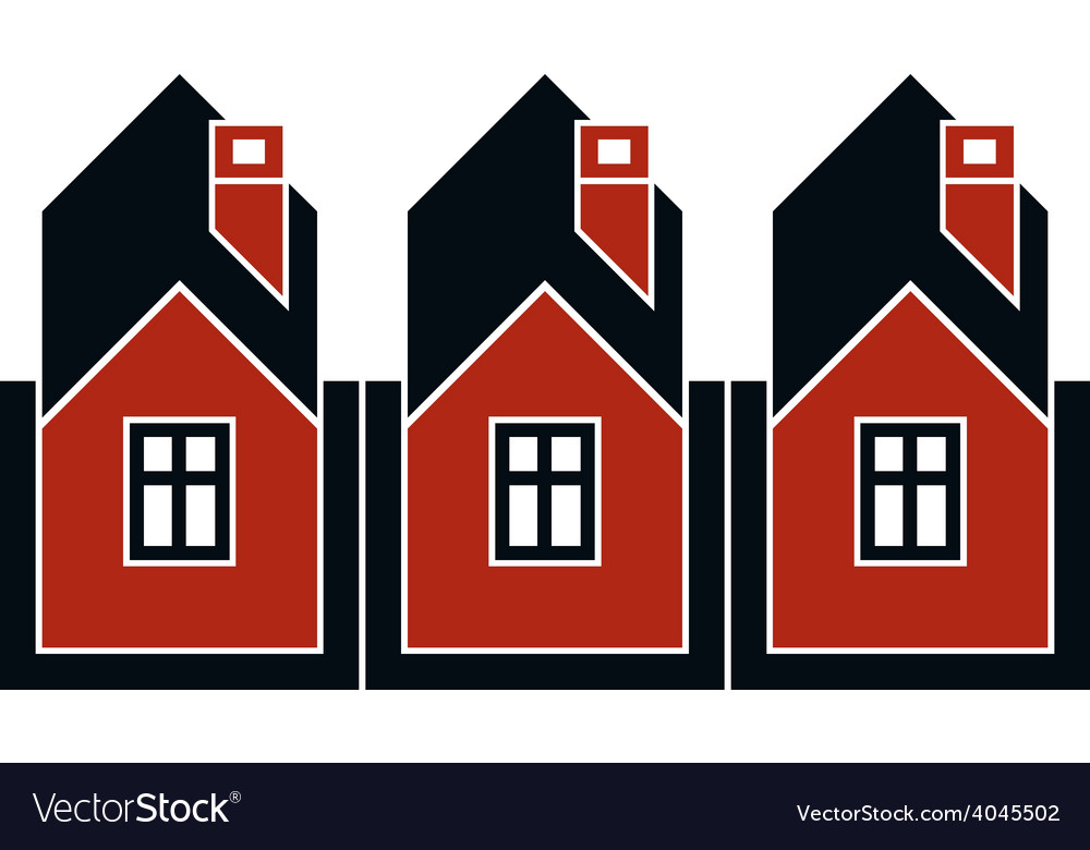 Simple cottages country houses for use in graphic vector | Price: 1 Credit (USD $1)