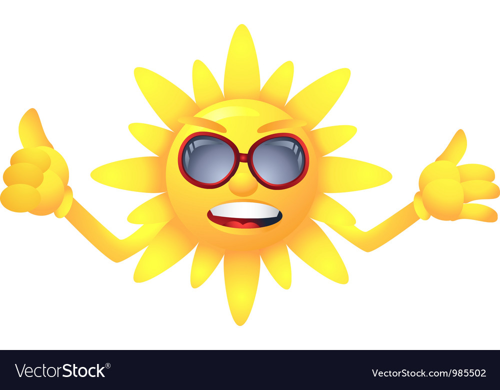 Sun with welcome summer vector | Price: 1 Credit (USD $1)