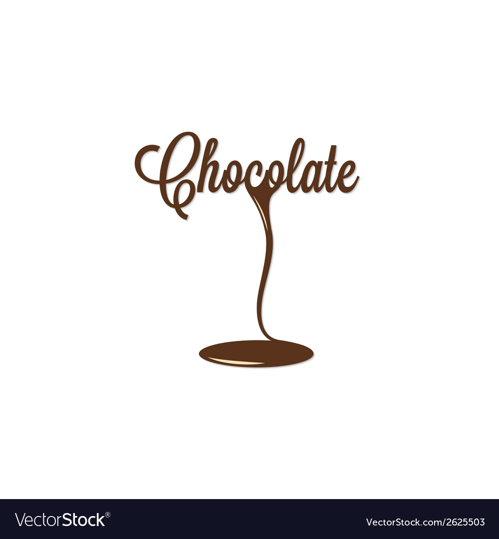 Chocolate isolated sign vector | Price: 1 Credit (USD $1)