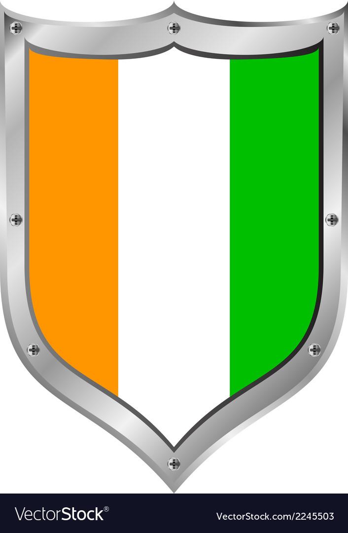 Cote divoire flag button vector   Price: 1 Credit (USD $1)