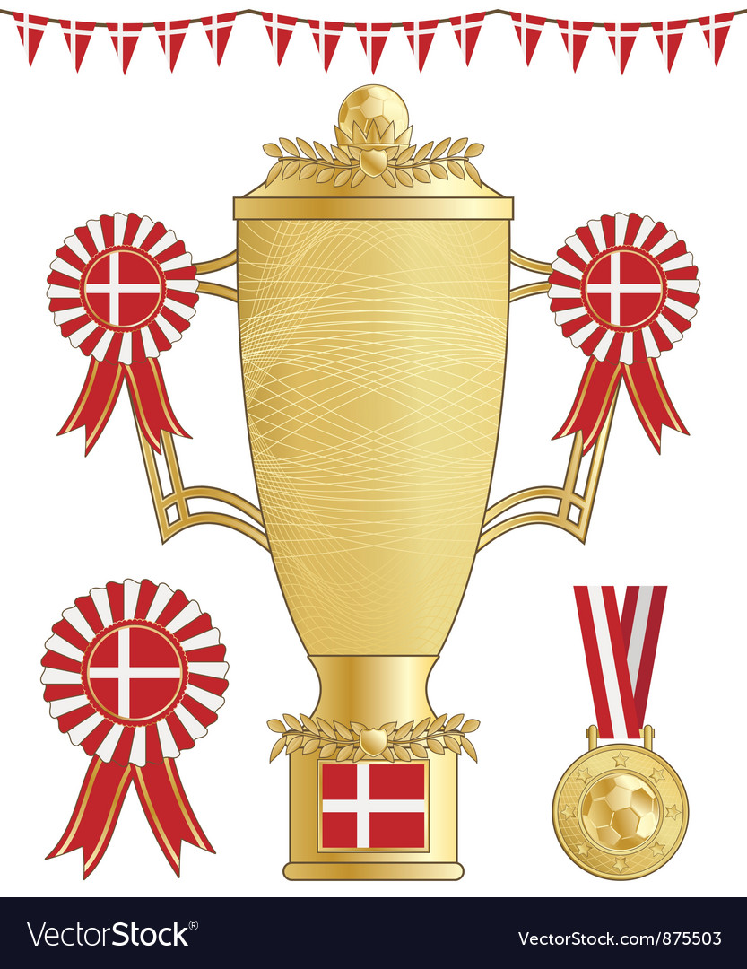 Denmark football trophy vector | Price: 1 Credit (USD $1)