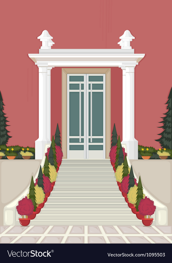 Entrance of the house vector | Price: 1 Credit (USD $1)