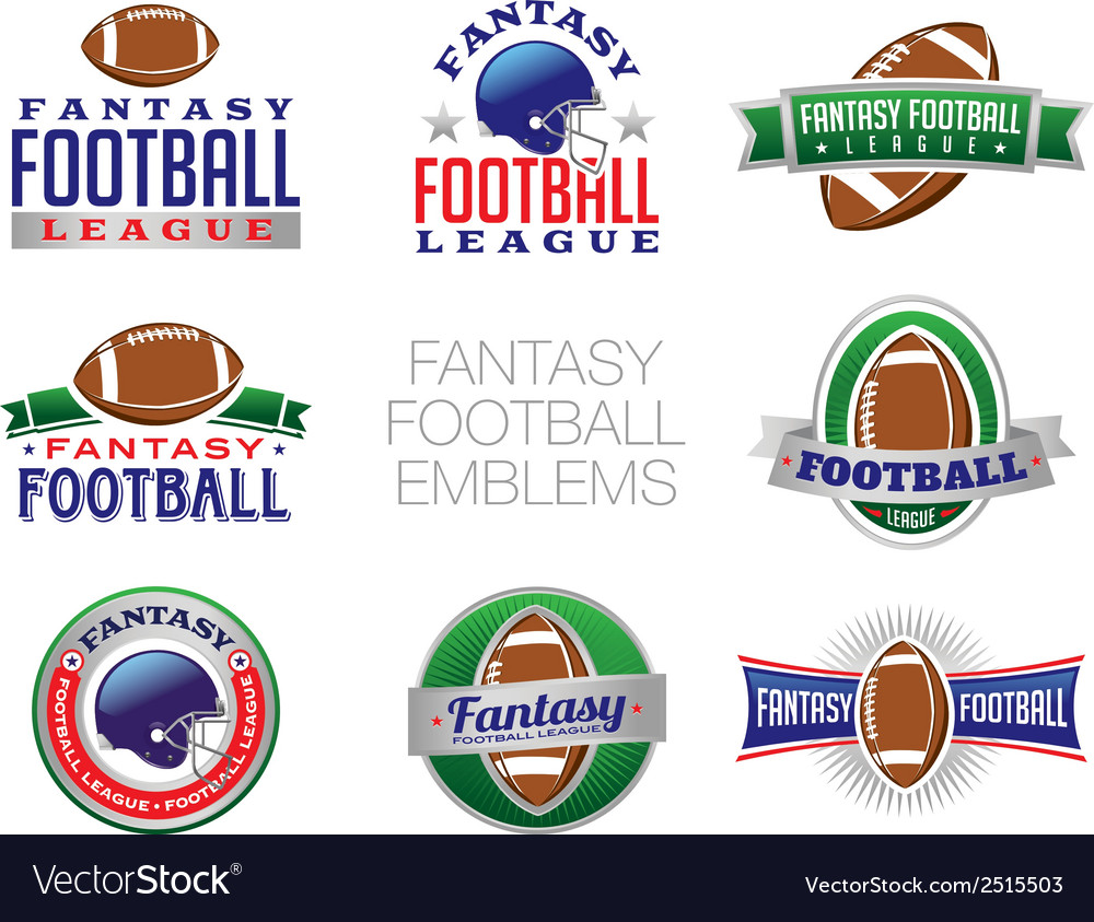 Fantasy football emblems vector | Price: 1 Credit (USD $1)
