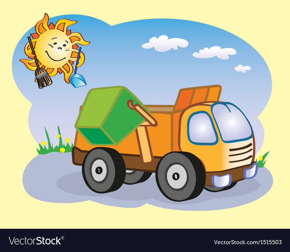 Garbage truck vector | Price: 1 Credit (USD $1)