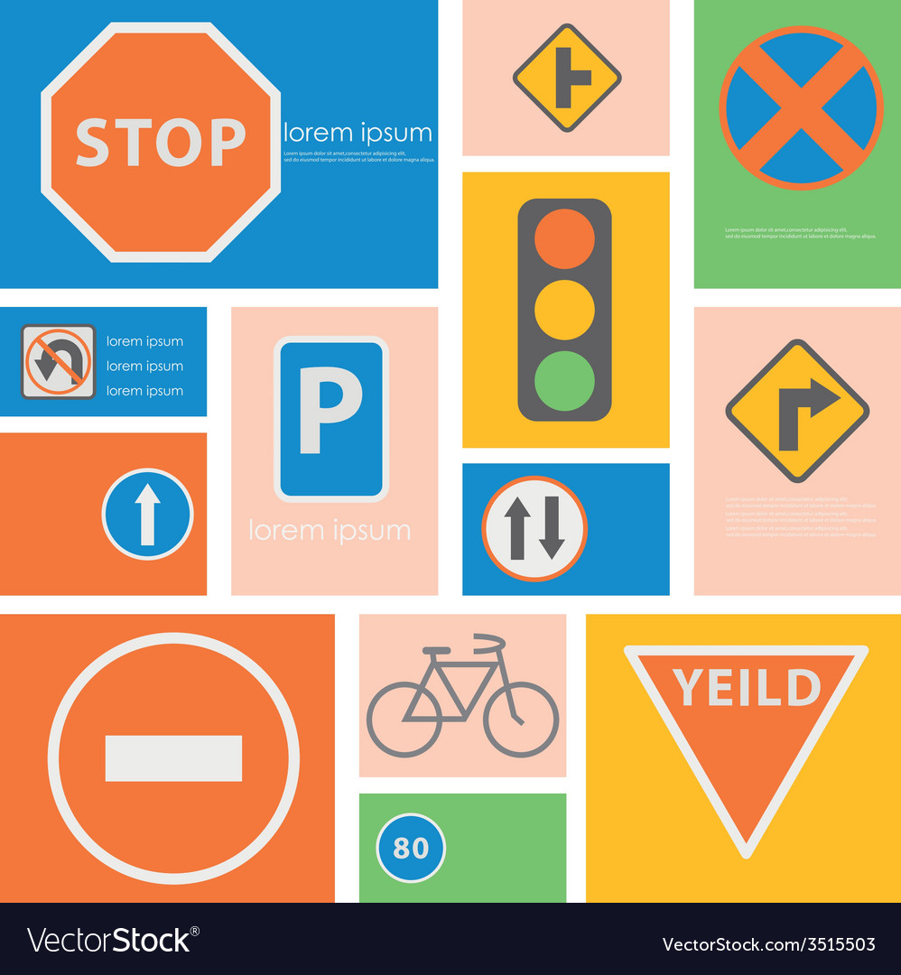 Icon trafic situation vector | Price: 1 Credit (USD $1)