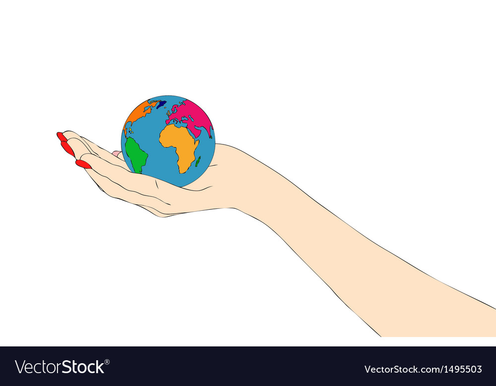 Lets give a hand to the world vector | Price: 1 Credit (USD $1)