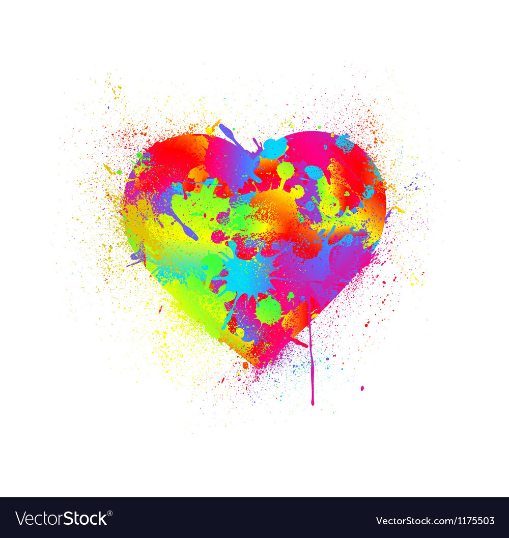 Paint splatter heart vector | Price: 1 Credit (USD $1)