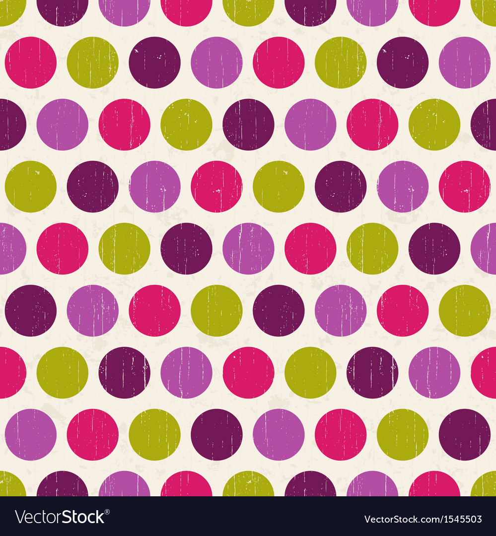 Seamless retro polka dots background vector | Price: 1 Credit (USD $1)