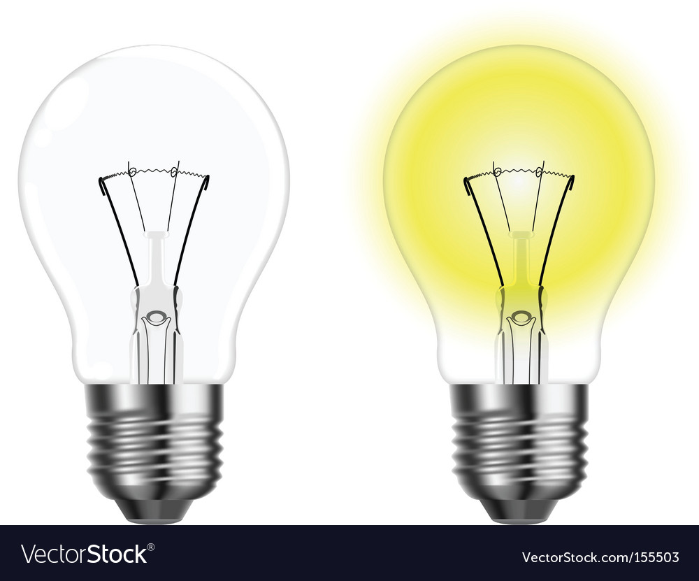 Two light bulbs vector | Price: 1 Credit (USD $1)