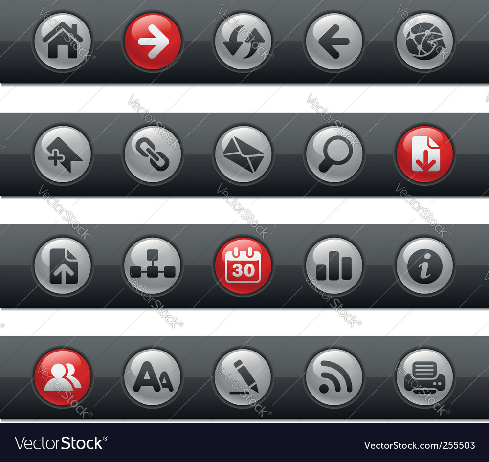 Web navigation bars vector | Price: 1 Credit (USD $1)