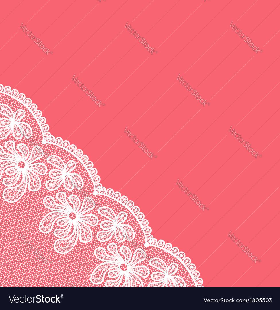 White lacy corner vector | Price: 1 Credit (USD $1)