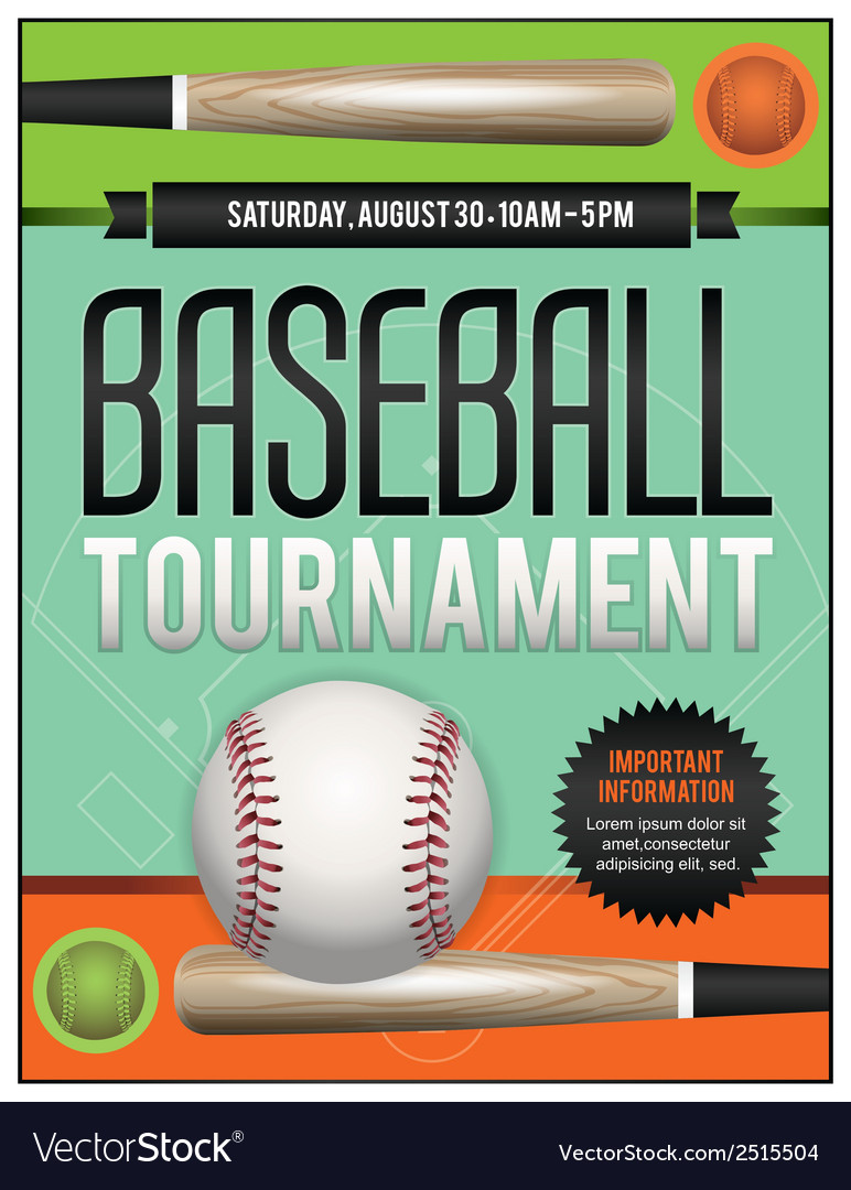 Baseball tourney flyer 2 vector | Price: 1 Credit (USD $1)