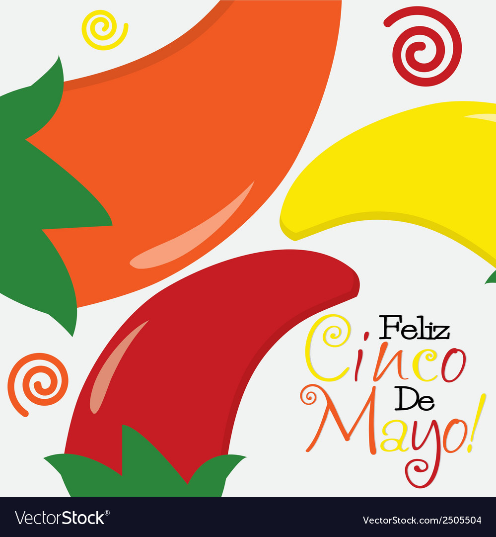 Cinco de mayo happy 5th of may card in format vector | Price: 1 Credit (USD $1)