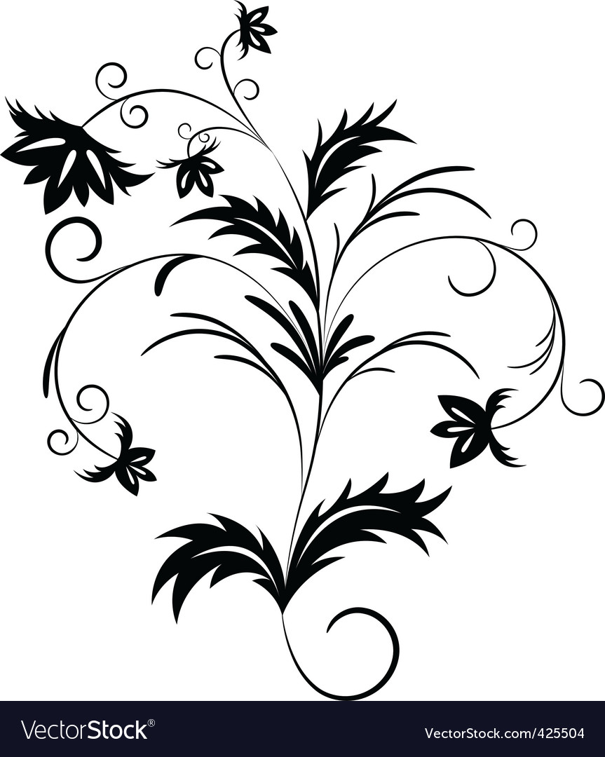 Floral branch vector | Price: 1 Credit (USD $1)