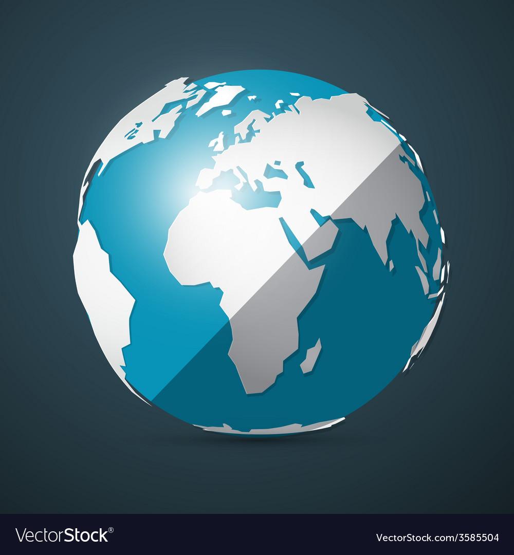 Globe - earth vector | Price: 1 Credit (USD $1)