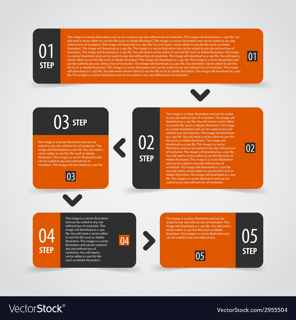Infographics options banner steps set vector | Price: 1 Credit (USD $1)