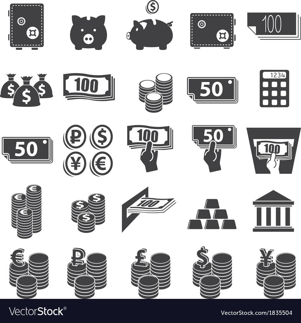 Money set icon vector   Price: 1 Credit (USD $1)