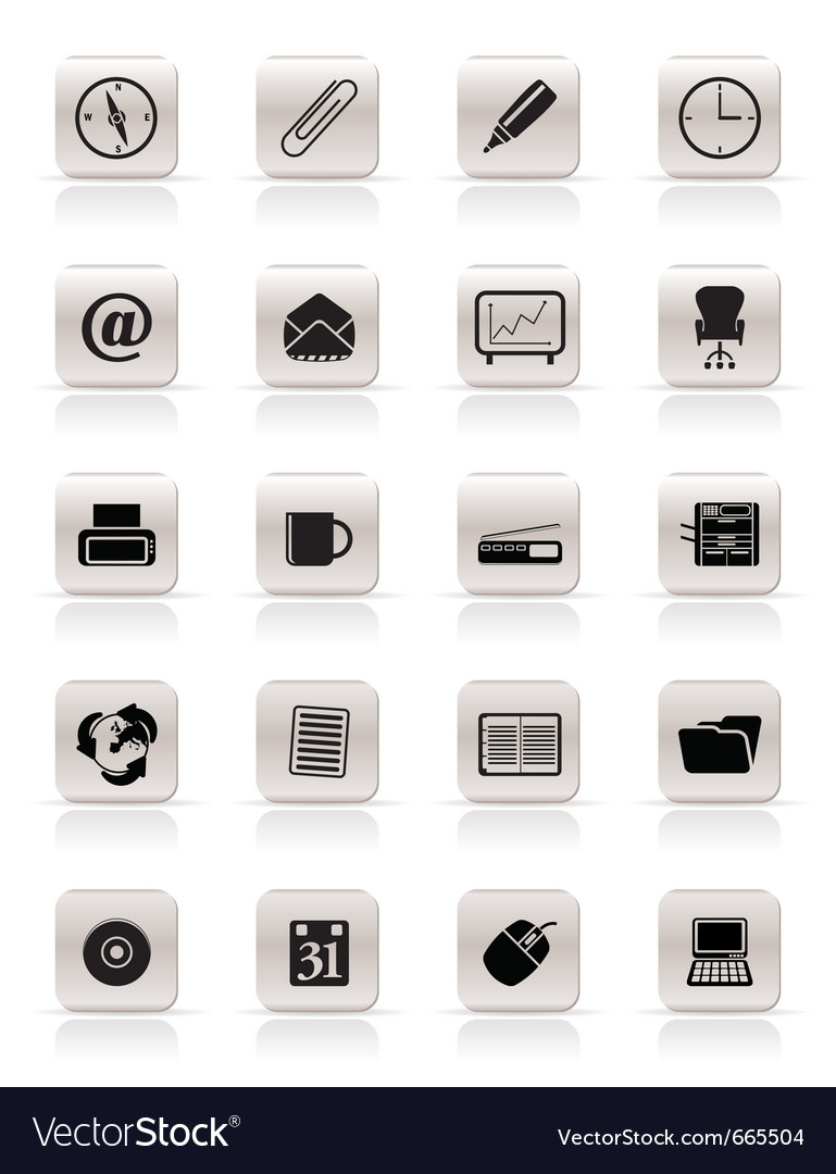 Office tools icons vector | Price: 1 Credit (USD $1)