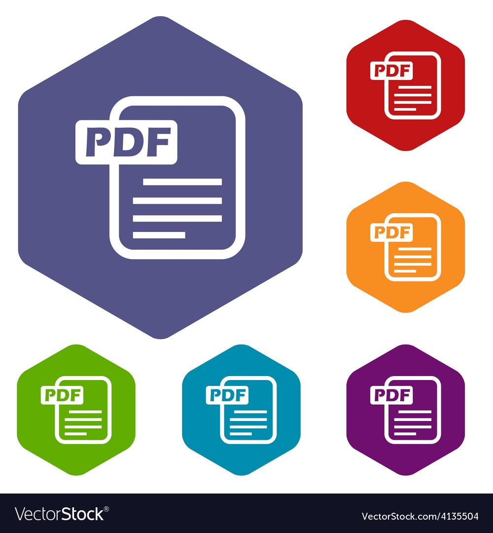Pdf rhombus icons vector | Price: 1 Credit (USD $1)