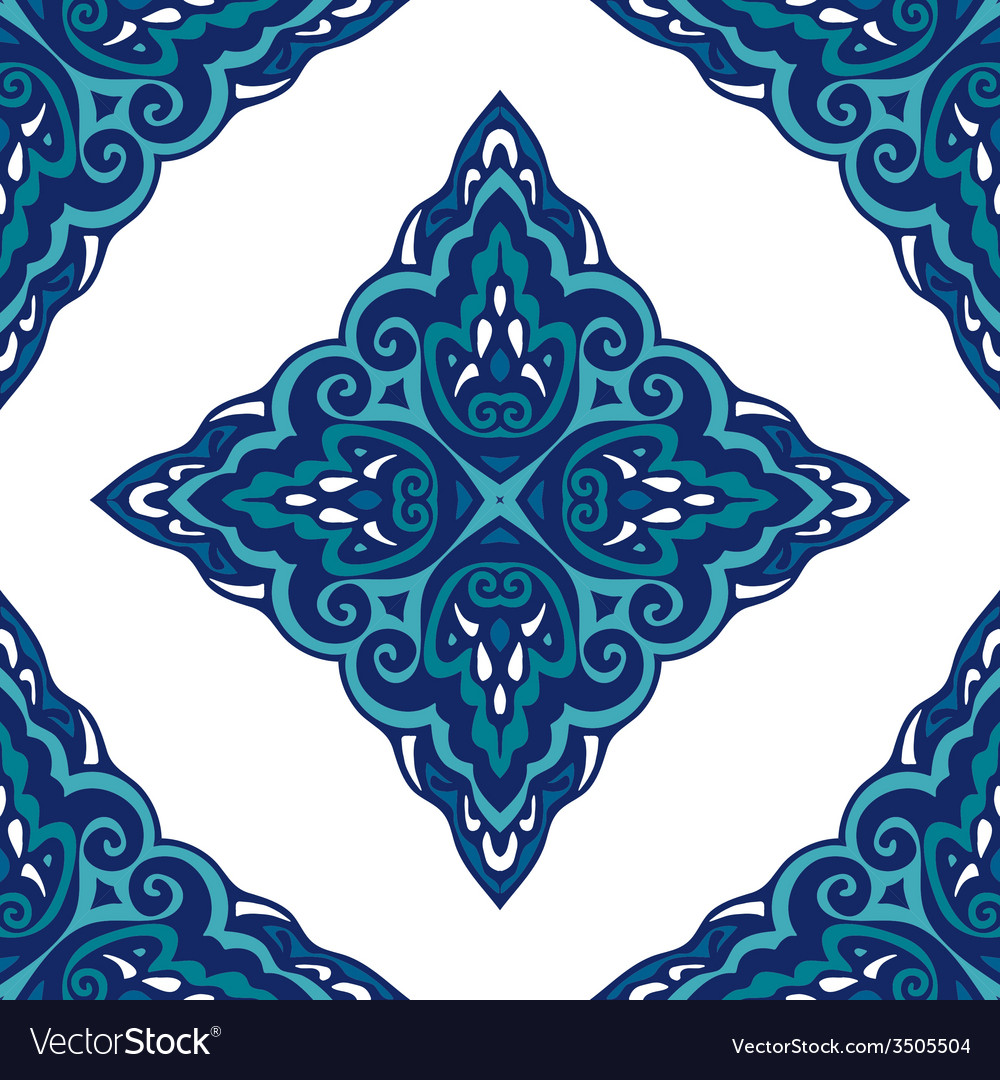 Seamless abstract tiled pattern vintage vector | Price: 1 Credit (USD $1)
