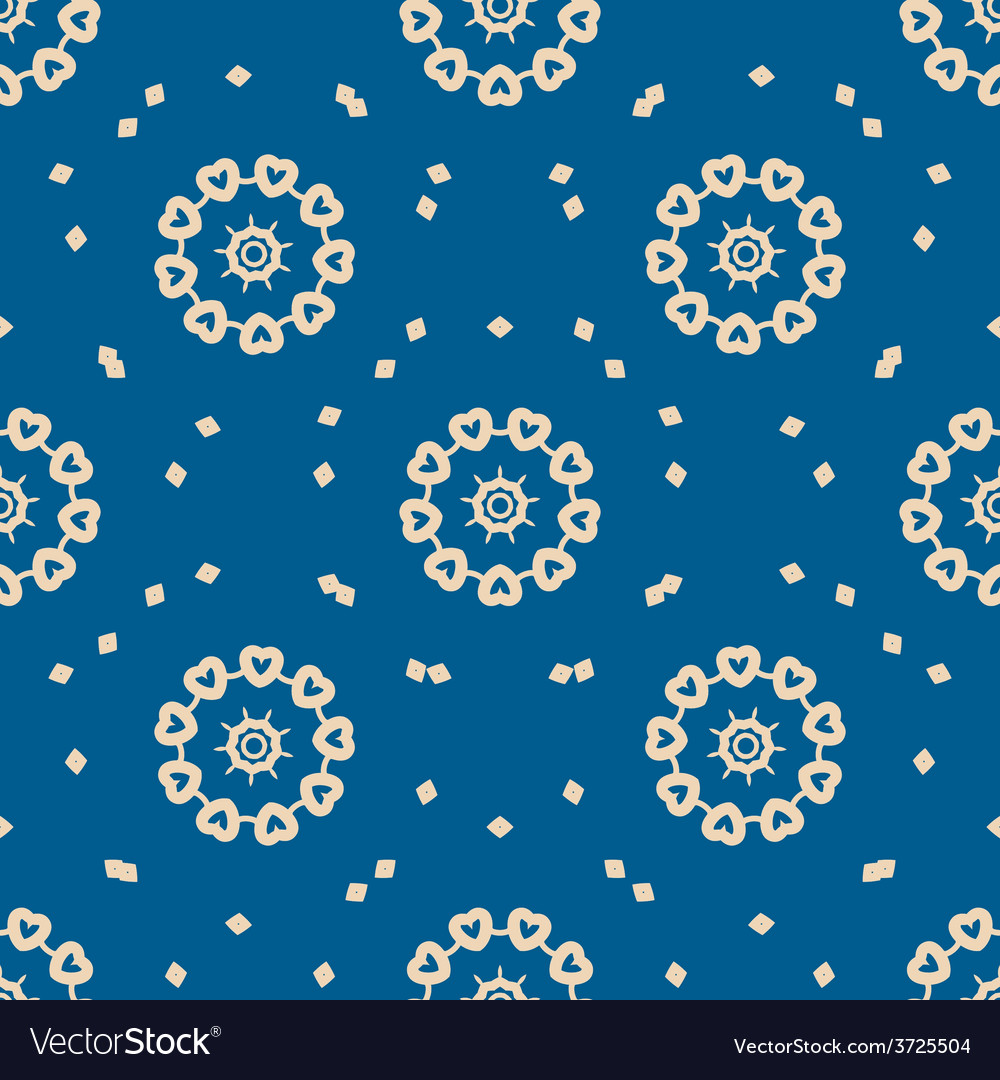 Seamless blue background with abstract oriental vector | Price: 1 Credit (USD $1)