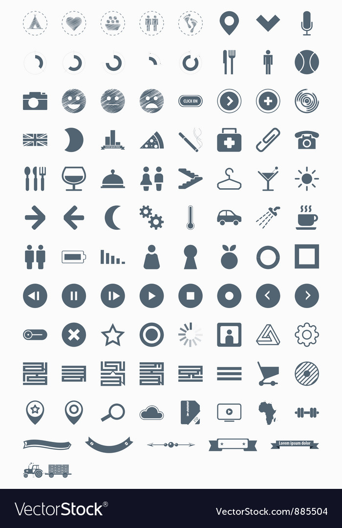 Signs symbols and pictograms vector | Price: 1 Credit (USD $1)