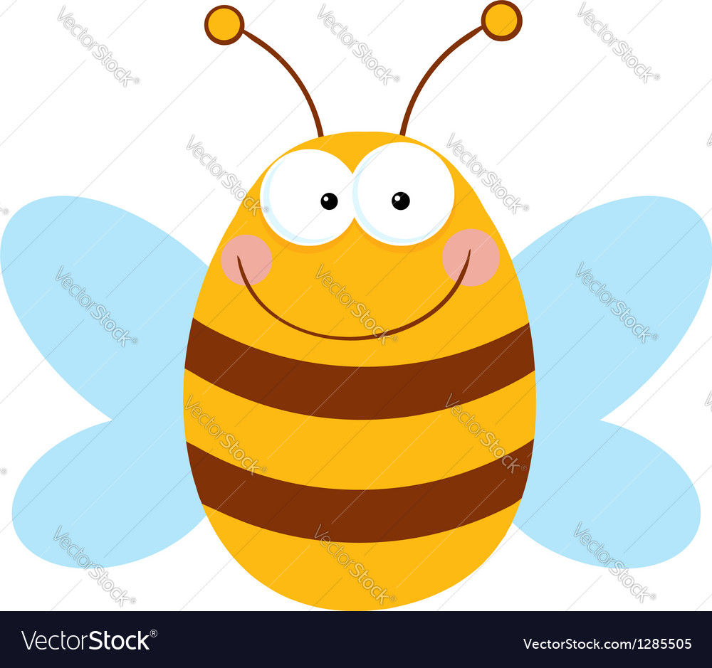 Bee cartoon character vector | Price: 1 Credit (USD $1)