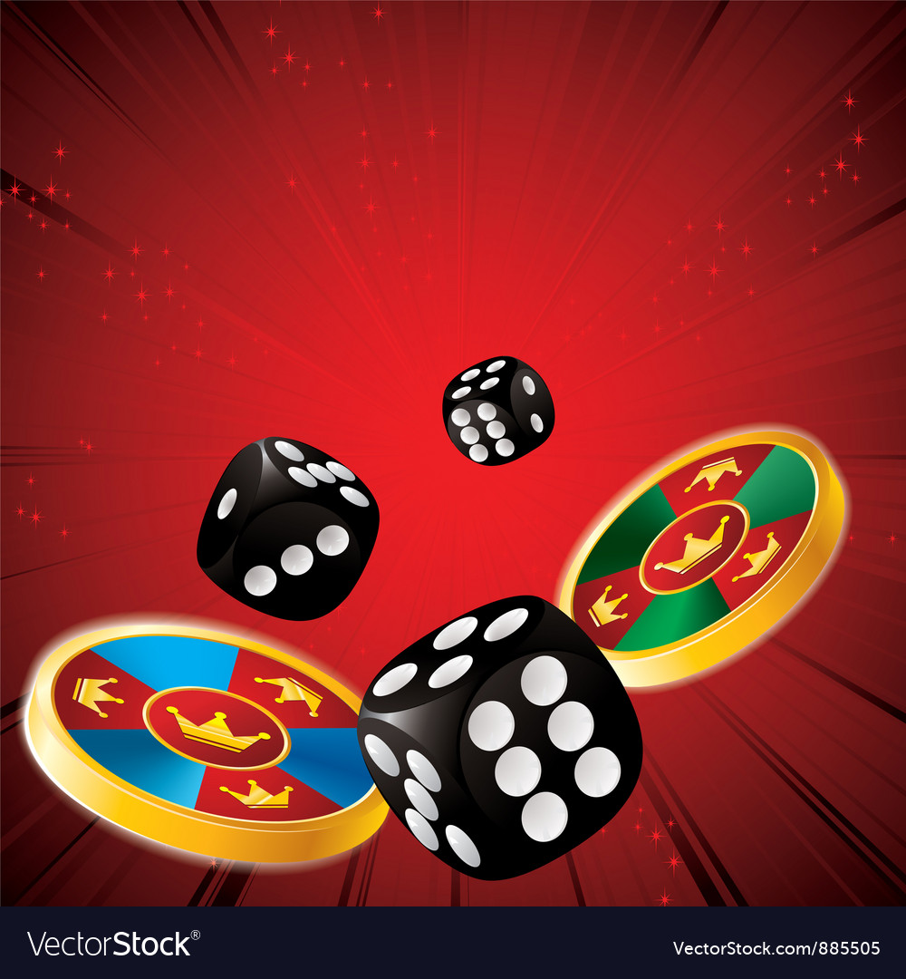 Casino chips dice vector | Price: 1 Credit (USD $1)