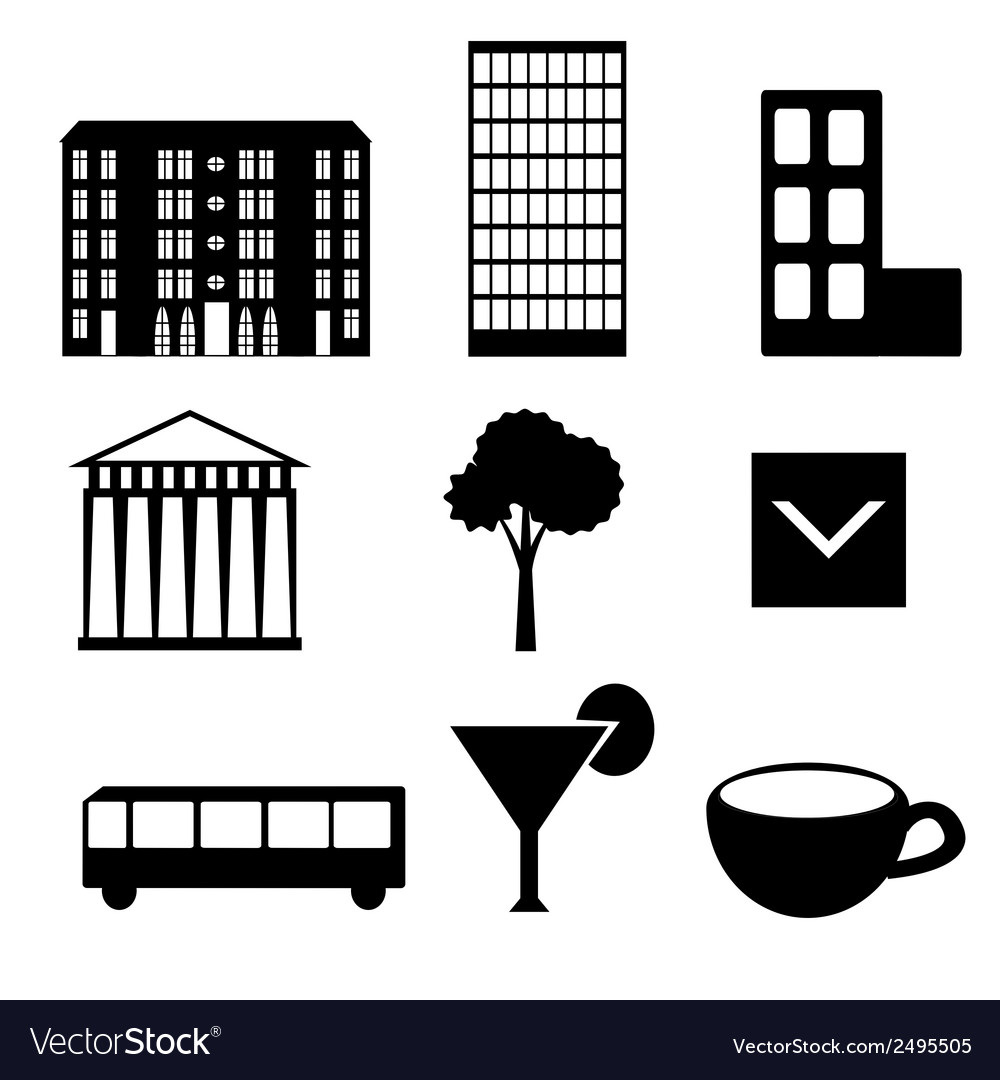 City icons vector | Price: 1 Credit (USD $1)