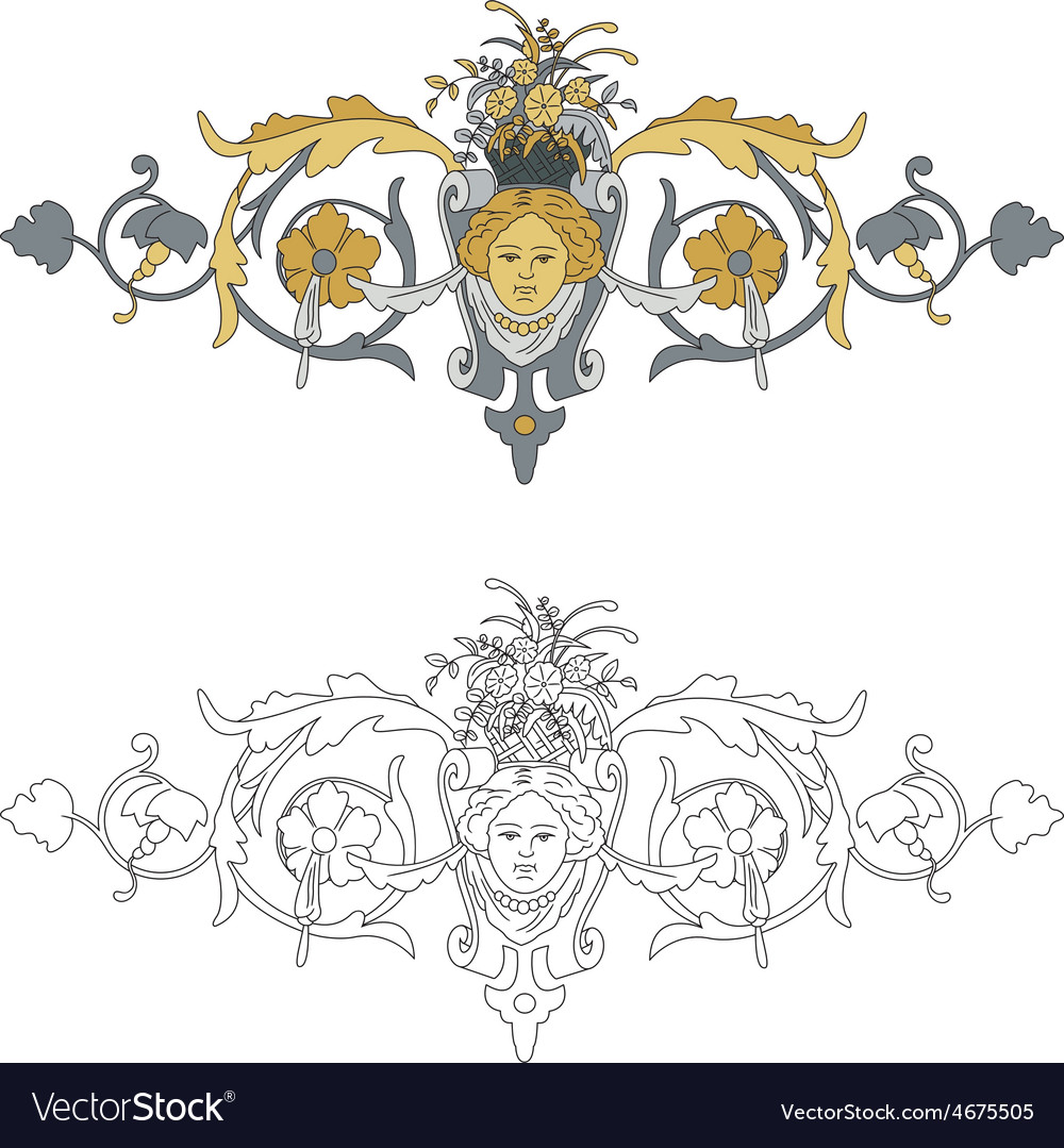 Coat of arms with cherub bis vector | Price: 1 Credit (USD $1)