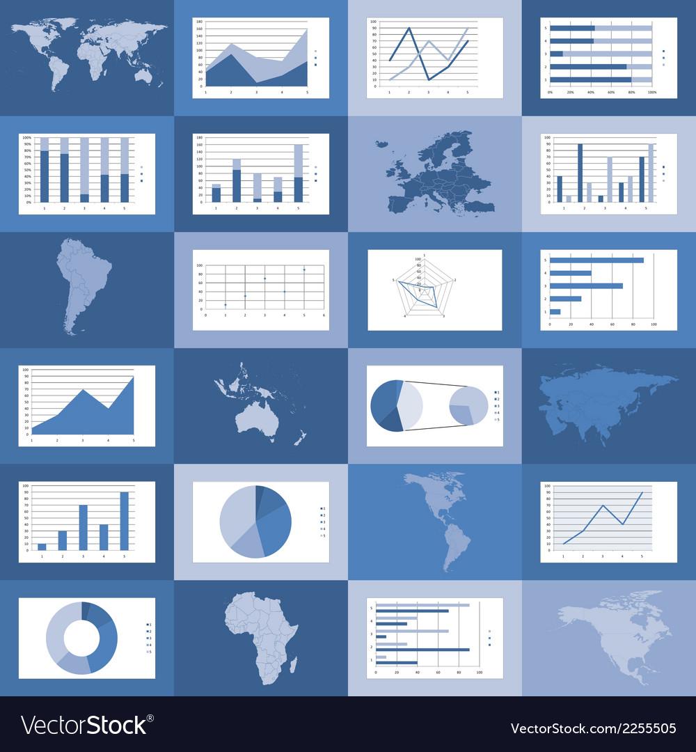 Flat design world maps graphics vector | Price: 1 Credit (USD $1)