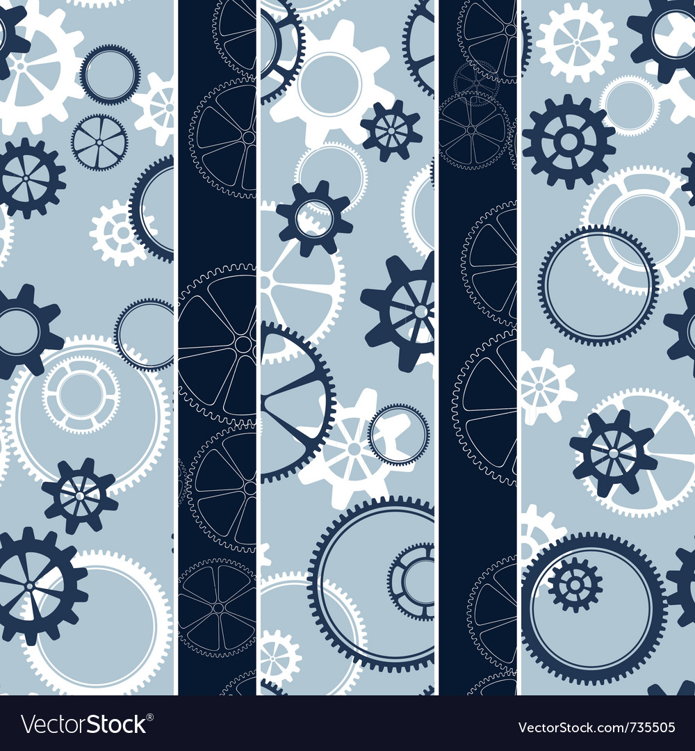 Gear silhouettes vector | Price: 1 Credit (USD $1)