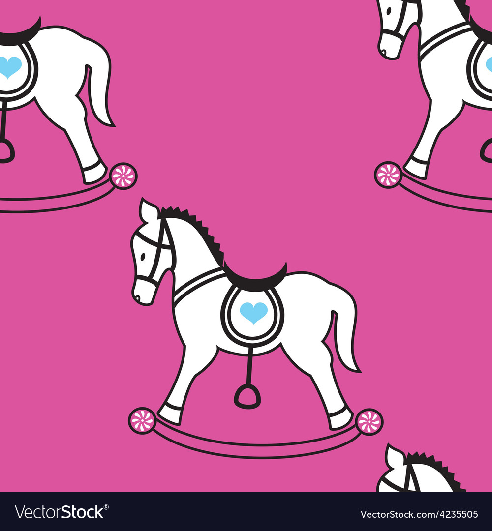 Rocking horse wallpaper vector | Price: 1 Credit (USD $1)