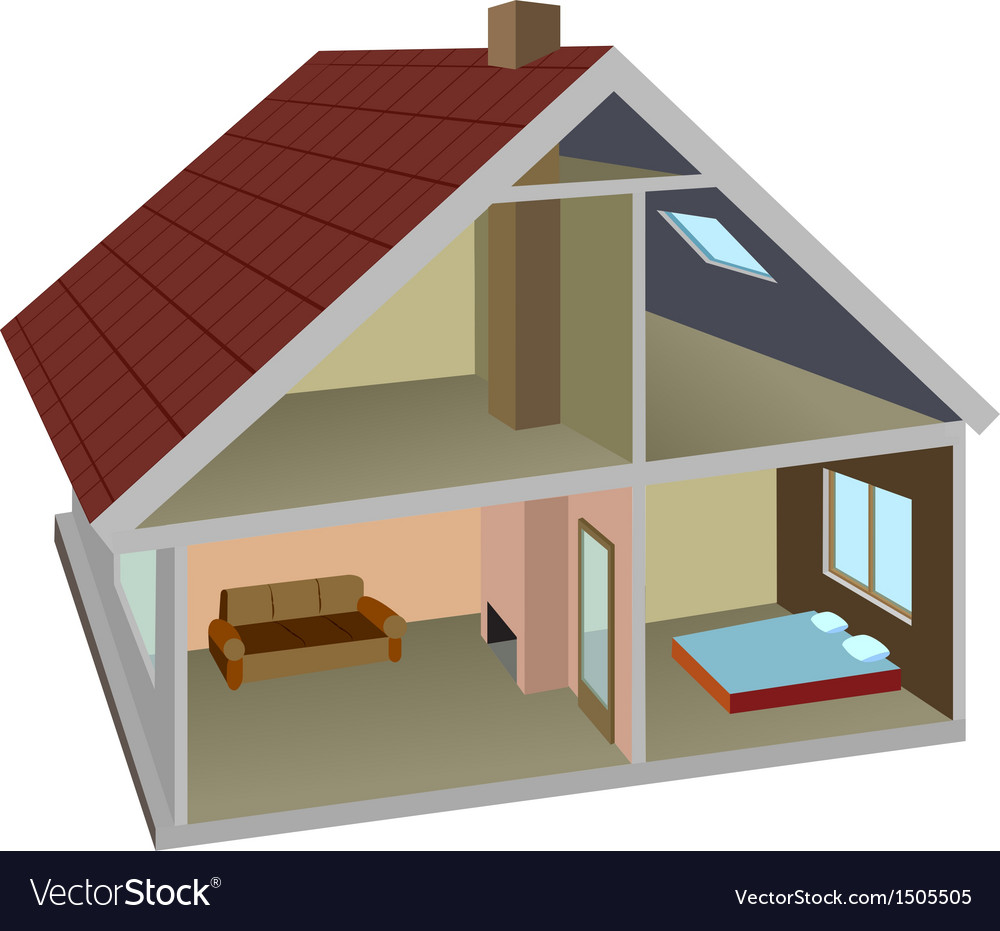 Rural home vector | Price: 1 Credit (USD $1)